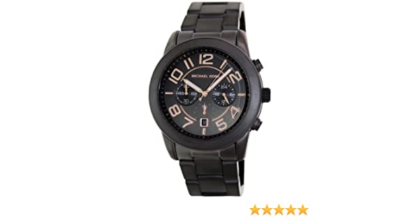 ed88f10a38a3 Michael Kors Men s Mercer MK8330 Grey Stainless-Steel Quartz Watch with  Grey Dial  Michael Kors  Amazon.co.uk  Watches