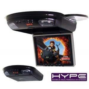 HYPE HV840DVD Ecran plafonnier 23cm DVD USB SD + jeux pivotant 360°