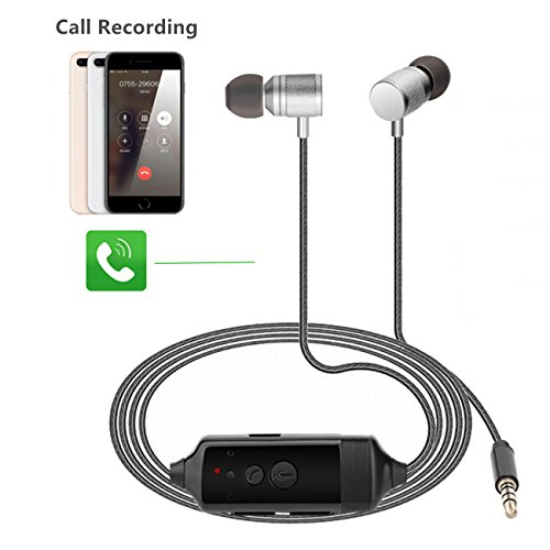 Express Panda Call Recorder für iPhone & Android/in-Ear Call Recording Kopfhörer Phone Call Recorder