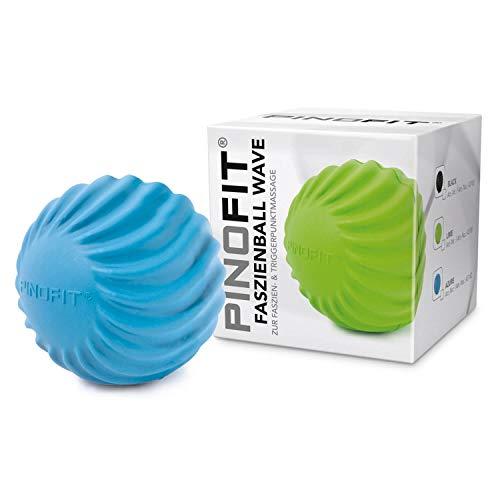 PINOFIT Faszienball Wave - zur Selbstmassage und Behandlung des Bindegewebes - verschiedene Trendfarben (Blau) -