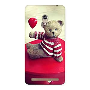 Red Heart Teddy Back Case Cover for Zenfone 6
