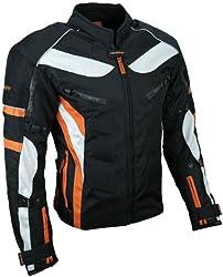 HEYBERRY Textil Motorrad Jacke Motorradjacke Schwarz Orange Gr. 2XL