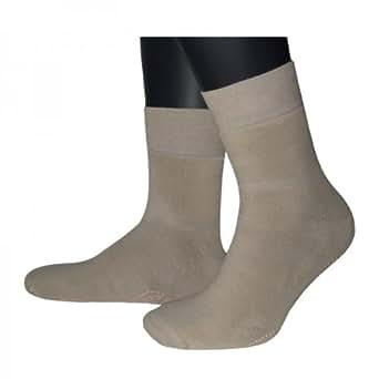 3 Paar, Wellness antirutsch Socken von Sympatico, Größe 43/46, beige