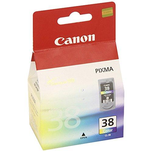 Canon CL-38 original Tintenpatrone  Mehrfarbig für Pixma Inkjet Drucker MP140-MP190-MP210-MP220-MP470-iP1800-iP1900-iP2500-iP2600
