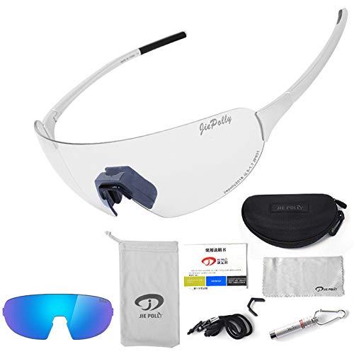Gnzoe PC Radbrille Verfärbung Outdoor Schutz Brille Radsportbrille Winddicht Polarisierte Brille...