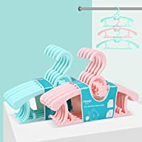HOMFA Perchas bebe ajustable Perchas para niños de plástico Perchero para ropa infantil antideslizantes muy resistentes 10 Unidades