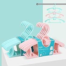 HOMFA Perchas bebe ajustable Perchas para niños de plástico Perchero para ropa infantil antideslizantes muy resistentes