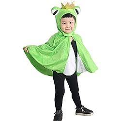 AN80 encargo único tamaño de los sitios 9 meses - 3 años Cabo rey de la rana para niños y adolescentes de disfraces disfraces del carnaval y trajes de carnaval