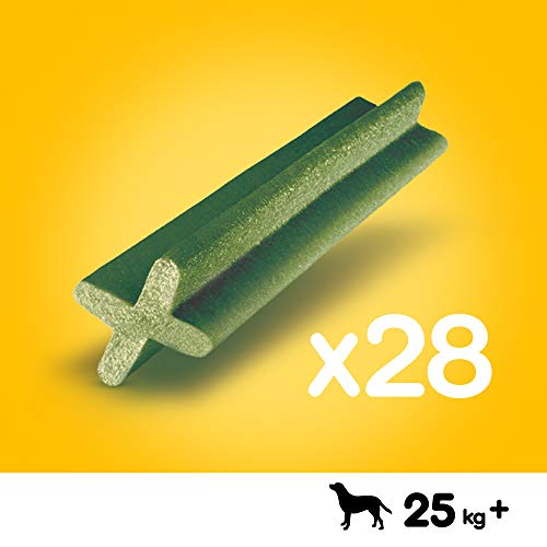 Pedigree DentaStix Fresh Hundesnack für große Hunde (25kg+), Zahnpflege-Snack mit Eukalyptusöl und Grüner Tee-Extrakt, 4 Packungen je 28 Stück (4 x 1,08 kg) - 2