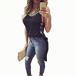 Women Tops, Womens Casual Chiffon Vest Top Sleeveless Blouse Tank Tops T-Shirt