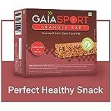 GAIA Crunchy Granola Bars - Chocolate, Muesli, Source of Iron, Zero Trans Fat - 360g (Pack of 12)
