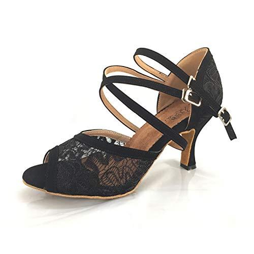 Syrads Zapatos de Baile Latino para Mujer Zapatos de Tango Salsa Samba Vals Baile de Salón