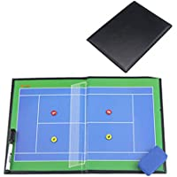 Tablero De Entrenador De Tablero Táctico De Tenis Magnético Plegable - Fácil De Transportar Y Reutilizar Blue