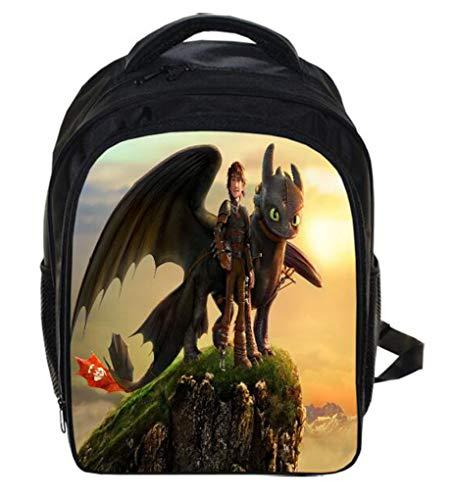 Hiccup Kostüm Dragon - HuHu How to Train Your Dragon 3 Taschen Kinder Schulranzen Rucksack Cosplay Kostüm