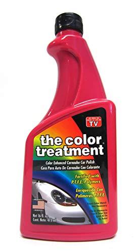 El Color Tratamiento Color Rojo Mejorado Coche Cera 16oz Quitar Marcas de Arañazos 16oz Rojo