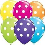 #5: royal kart Multi colours Polka Dot Balloons Pack of 25