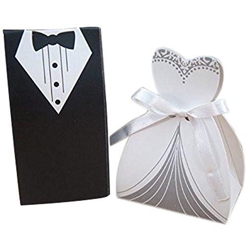 50pz bomboniere matrimonio scatole ambito sposa porta confetti segnaposto regalo