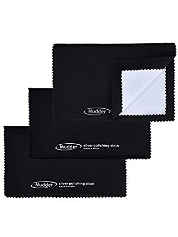 Mudder 3 Pack Polishing Cloth for Silver, Gold, Brass-Cleaning, Watches and Camera Shot