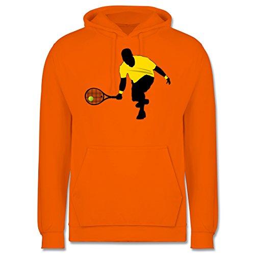 Tennis - Tennis Squash Kniend - Männer Premium Kapuzenpullover / Hoodie Orange