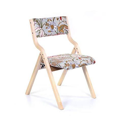 FENGFAN-Klappstuhl Holzstuhl Rückenlehne Stuhl Weiche Kissen Tuch Schlafzimmer Wohnzimmer Restaurant Stühle Cafe Schreibtisch Stuhl (Farbe : 8)