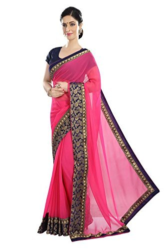 Women's Georgette Fabric Saree With Blouse Piece.