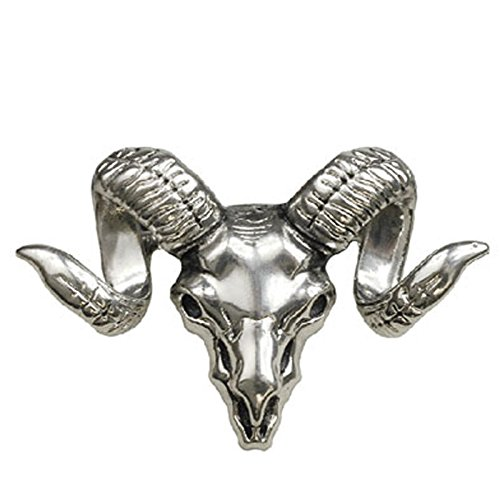 Schaf Kopf Widder Cosplay Metal Pin Badge (Silber) (Silber Stormtrooper Kostüm)
