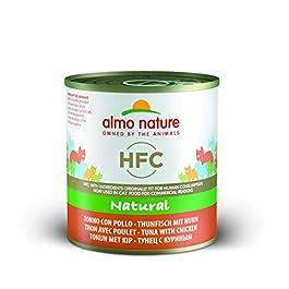 Almo Nature HFC Natural Tonno e Pollo Umido Naturale, Cibo per Gatti – 280 g, Confezione da 12 pezzi
