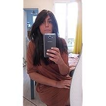 SUMERSHA Parrucca di Capelli Lisci e Lunghi, per Cosplay, 80cm Rose