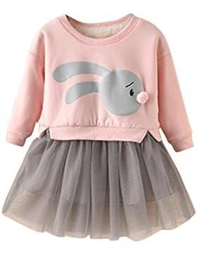 Ropa Bebe Invierno, K-youth® Vestido de falda de tul de manga larga Falso de dos piezas vestidos niña fiesta Tutú...