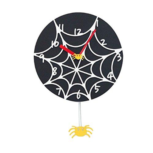 [Moro] gelb Spider Lautlos Wand Uhr & Schlüssel Ring