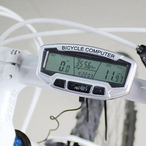 Bicicleta de la bici del LCD del ordenador cuentakilómetros velocímetro Cronómetro SD558A.