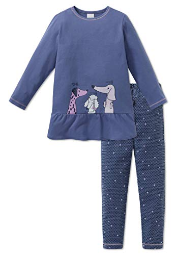 Schiesser Mädchen Schlafanzug lang 163342, blau, 128