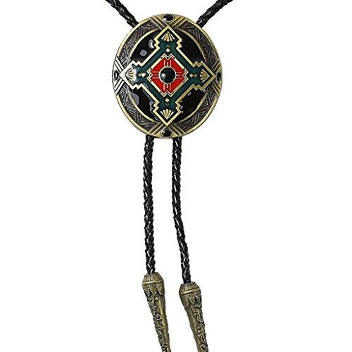 Magideal Diseño de Totem Indio Joya de Manera Collar Occidental Colgante de Bola Lazo de Rodeo Vaquero