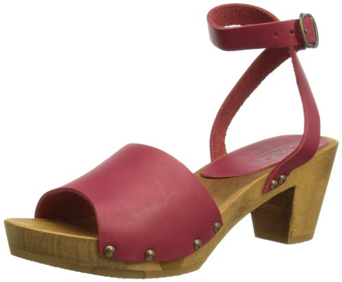 Sanita Wood-Yara Flex 457357-14, Sandali donna Rosso (Red 4)