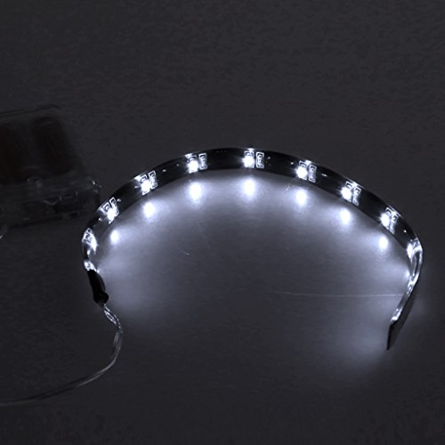 Cold Toy 30 cm 12 LED 3528 SMD Wasserdichte Flexible Streifen Licht RGB Batterie Box Decor Lampe, Weiß - Streifen-licht-box