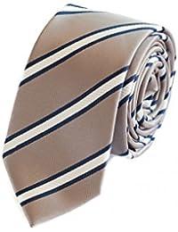 Cravate de Fabio Farini à rayures en argent-bleue-blanche