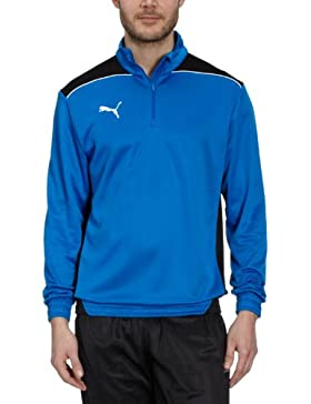 Puma Felpa Uomo Foundation con cerniera, Blu Royal/black, M