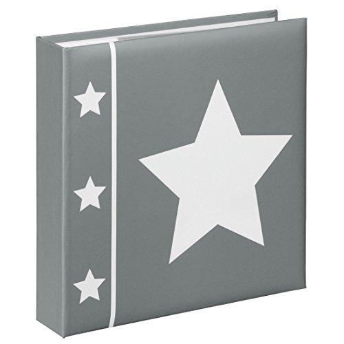 Preisvergleich Produktbild Hama Einsteck-Fotoalbum Skies (Memo-Album mit 100 Seiten, zum Einstecken von 200 Fotos im Format 10x15, Stern Motiv, 22,5x22, Einsteckalbum Fotobuch) grau