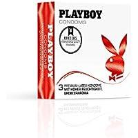PLAYBOY CONDOMS Premium Latex Kondome Mit hoher Feuchtigkeit und Erdbeeraroma (3) preisvergleich bei billige-tabletten.eu
