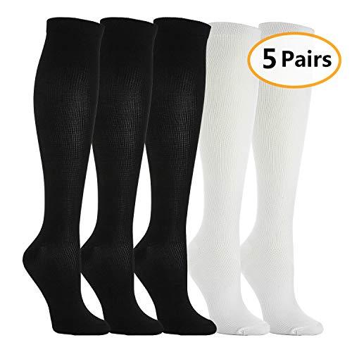 5 Pares Calcetines/Medias Compresión Hombres Mujeres