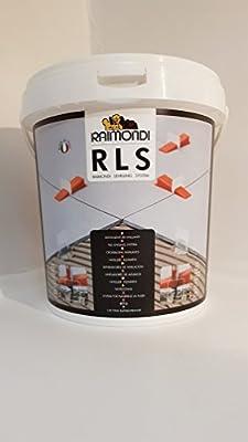 RLS Raimondi Sistema de nivelación Base Set–100cuñas, 100lengüetas, 1suelo Alicate