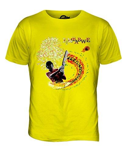 CandyMix Simbabwe Cricket Herren T Shirt Zitronengelb