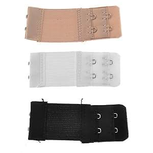Élastiques Lingerie extendeurs Extension bretelles WINOMO 3pcs féminines (noir + blanc + nu)