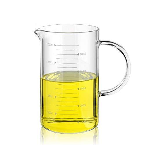 Glasprodukt Laborgeräte 1000ml Griff Skala Becherglas Hochtemperaturbeständige Starke Materialwissenschaft Unterrichtsmaterial Y0512WM