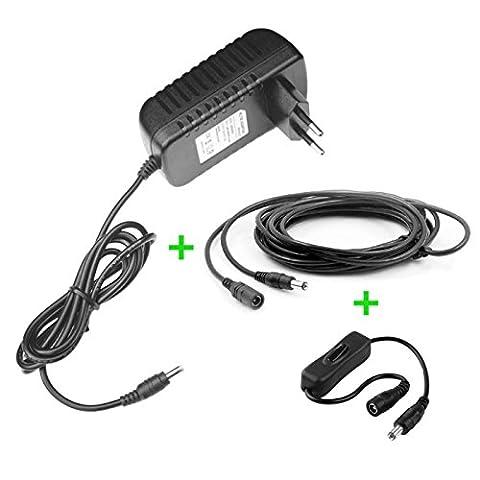 Chargeur / Alimentation 12V compatible avec Synthétiseur Yamaha CS01 (Adaptateur Secteur) - prise française - Premium