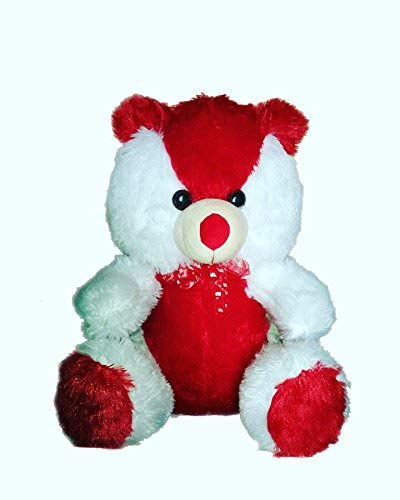 BTC 2Ft Fluffy Super Soft Cute Teddy Bear, Perfect Gift for Everyone (White & Red)