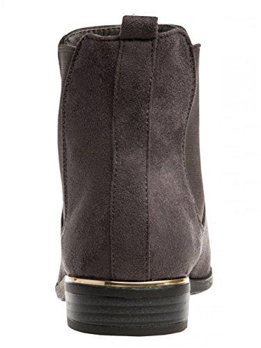 Damen Vintage Chelsea Boots SBO054 Dunkelgrau