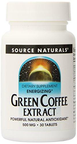Source Naturals - Extrait de Café Vert 500 mg - 30 Comprimés