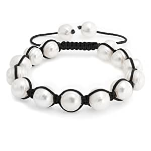 Bling Jewelry Baroque Pearl Bracelet Inspired by Shamballa Jewels 12mm