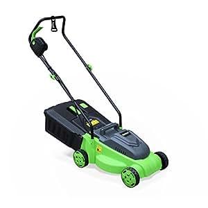 Alice's Garden - VOLTR - Tondeuse à gazon électrique 1200W - Récupérateur d'herbe 30L, diamètre de coupe 32cm, compacte et maniable.